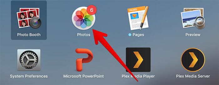 Open Photos App on Mac running macOS High Sierra