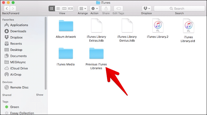 Open Previous iTunes Libraries on Mac