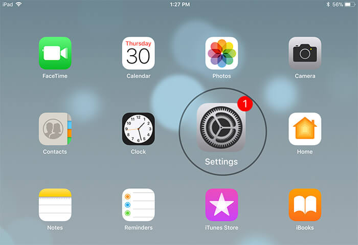 Open Settings on iPad Pro