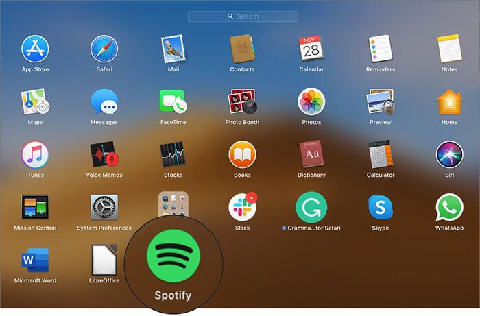 Open Spotify App on Mac