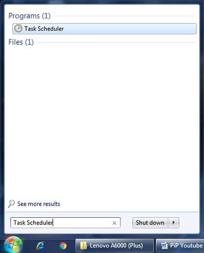Open Task Scheduler in Windows PC