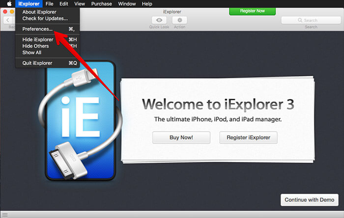Open Third-party App and Click on Preferences on Mac