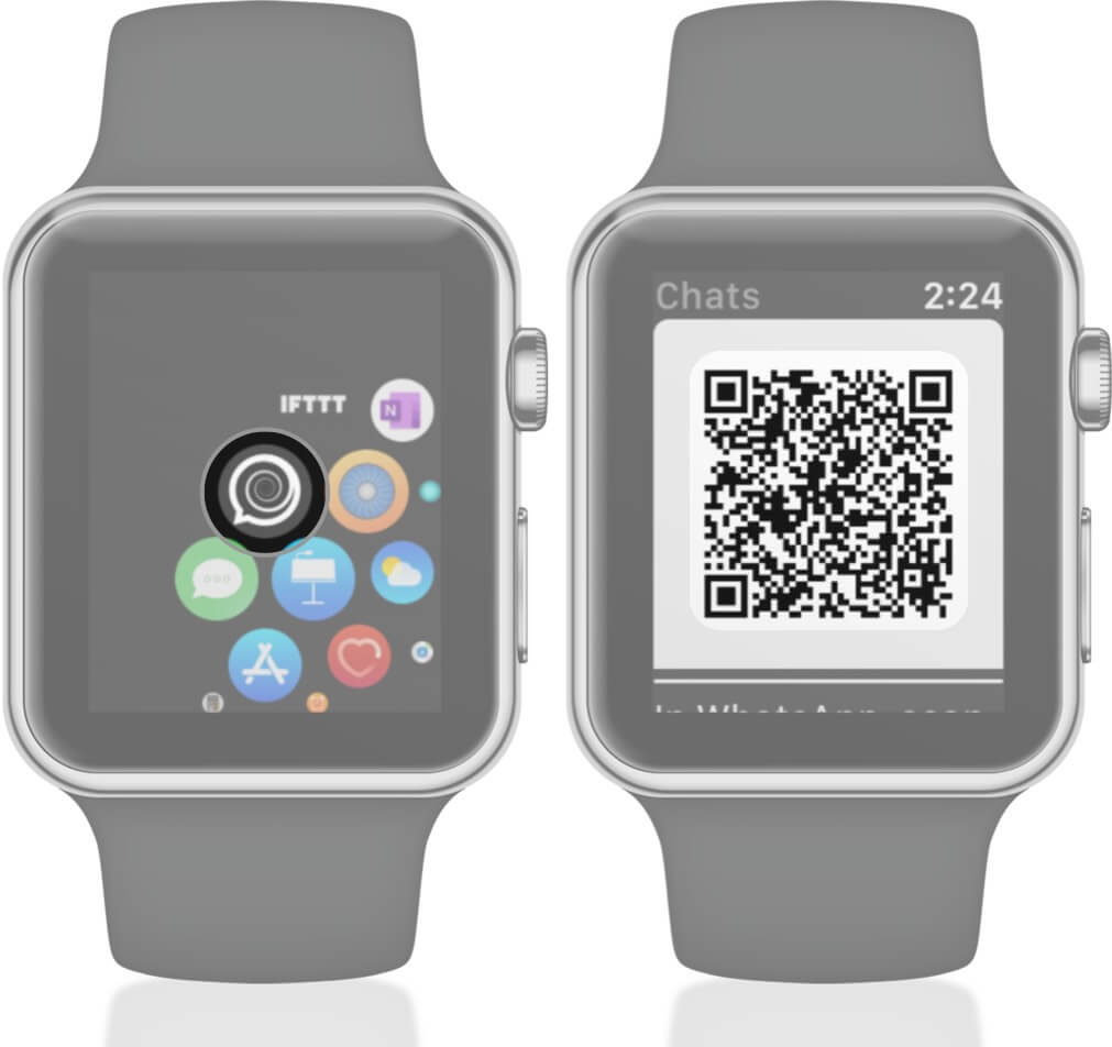 Open WatchChat 2 for WhatsApp on Apple Watch and Scan QR Code
