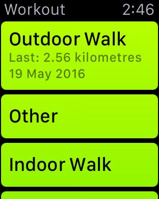 Open Workout App on Apple Watch