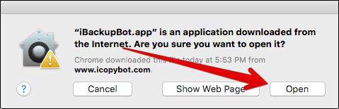 Open iBackupBot on Mac