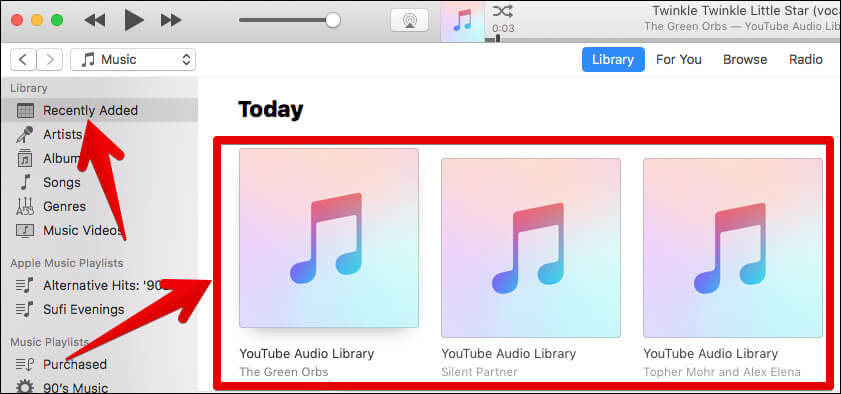Open iTunes and Verify Music