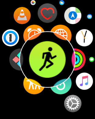 Open the Workout app on Apple Watch