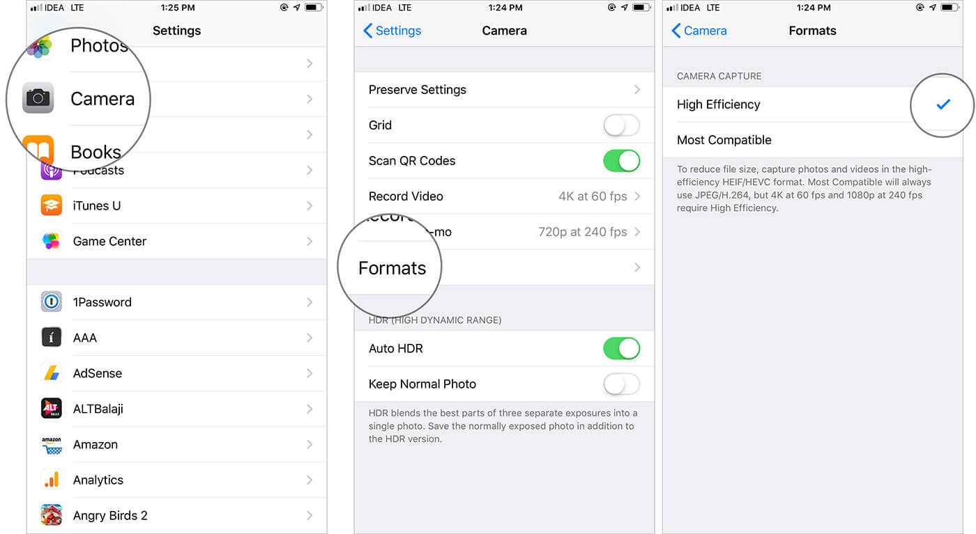 Optimize Storage With High Efficiency on iPhone