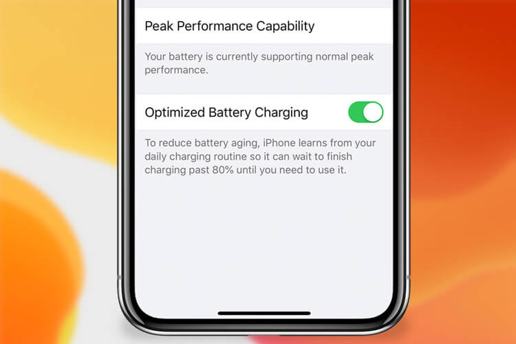Optimized Battery Charging in iOS 13