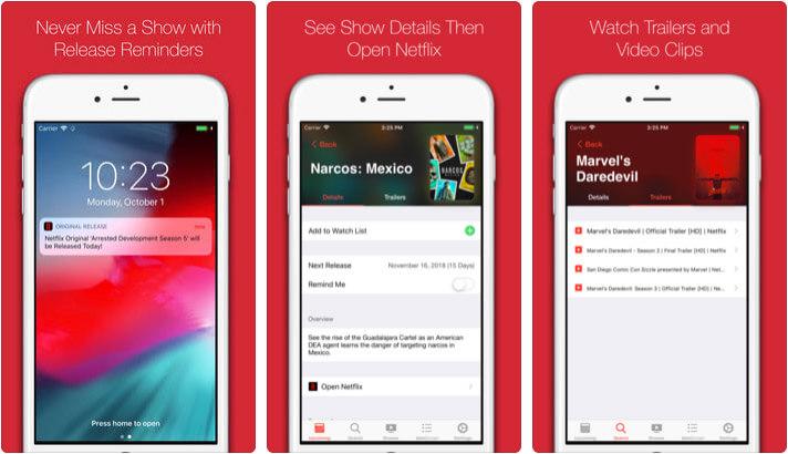Original Release for Netflix iPhone and iPad App Screenshot