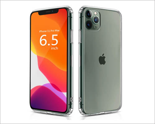 Ouluoqi Shockproof Clear Case for iPhone 11 Pro Max