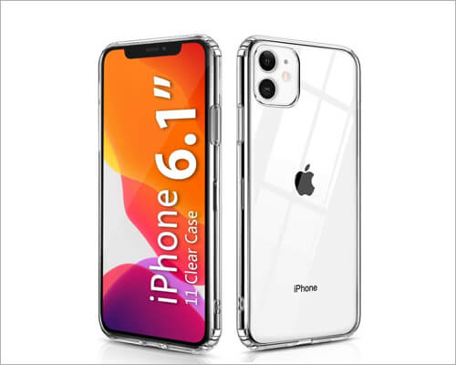 Ouluoqi Shockproof Clear Cheap Case for iPhone 11