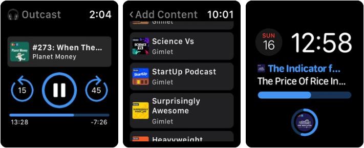 Outcast Apple Watch Podcast App Screenshot