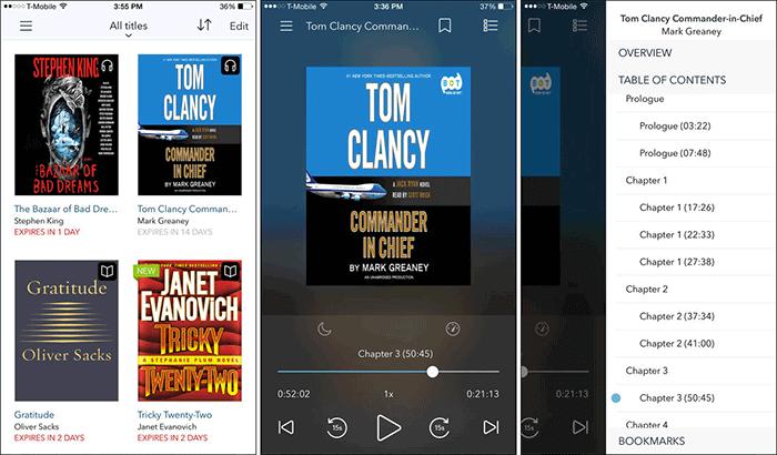 OverDrive Audiobook iPhone and iPad App Screenshot