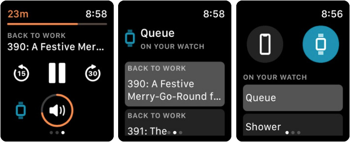 Overcast Apple Watch Podcast App Screenshot