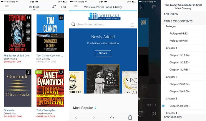 Overdrive Audio Book iPhone and App Screenshot