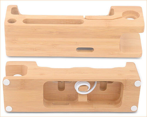 Ovtel iPhone Xs Max, Xs, and iPhone XR Wooden Docking Station