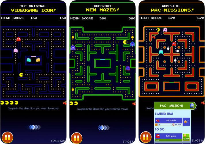 PAC-MAN iPhone and iPad Arcade Game Screenshot