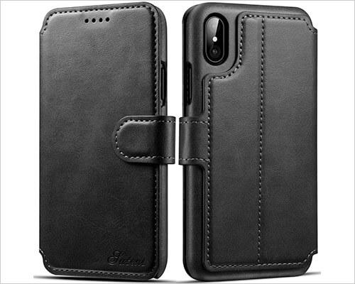 PASONOMI Wallet Case for iPhone X-Xs
