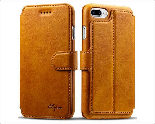 PASONOMI iPhone 8 Plus Flip Case