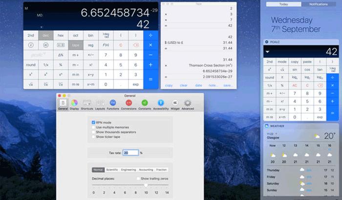 PCalc Mac App ScreenShot