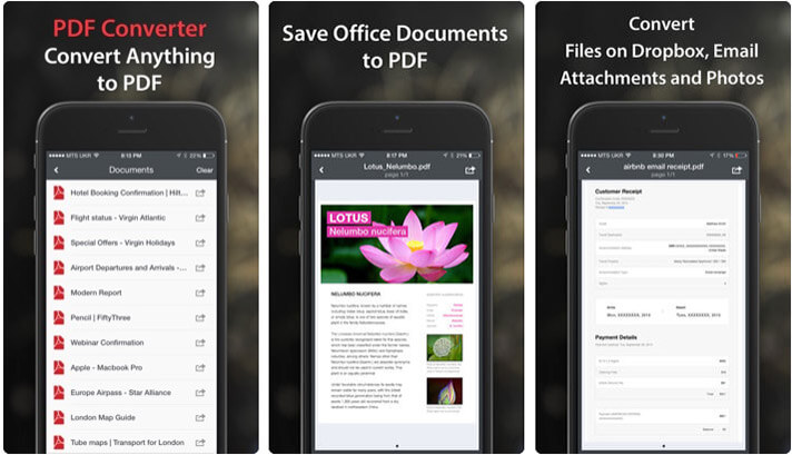 PDF Converter by Readdle iPhone and iPad App Screenshot
