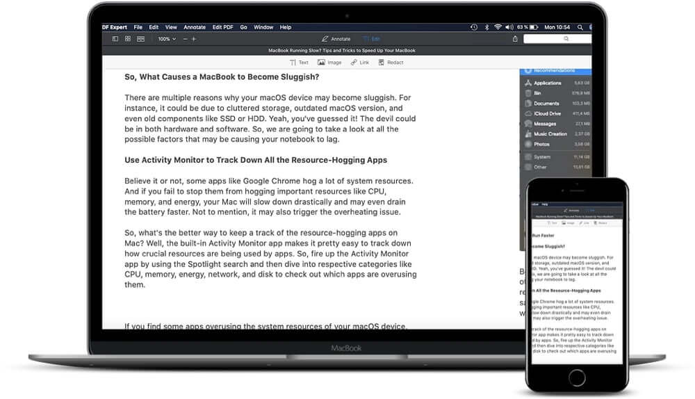 PDF Expert Works Seamlessly Across iPhone, iPad, and Mac
