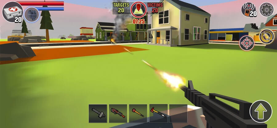 PIXEL'S UNKNOWN BATTLE GROUND iPhone and iPad Game Screenshot