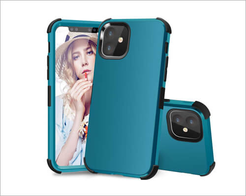PIXIU Heavy Duty Silicone Case for iPhone 11
