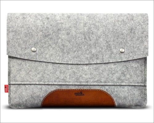 Pack & Smooch Vegetable Tanned Leather Sleeve for MacBook Air