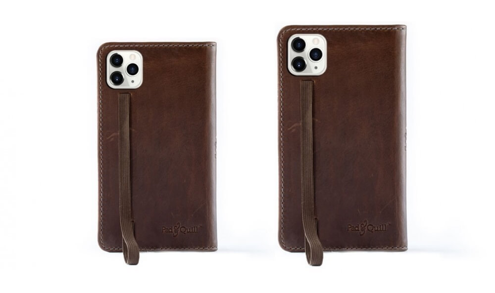 Pad & Quill Leather Book Case With Wooden Frame for iPhone 11 Pro Max
