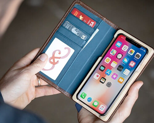 Pad and Quill Luxury Book iPhone XS Max Wallet Case