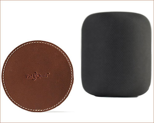 Pad&Quill Leather Coaster for HomePod