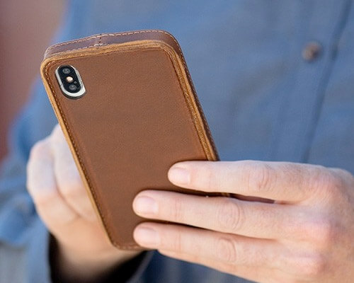 PadQuill iPhone Xs Max Leather Case