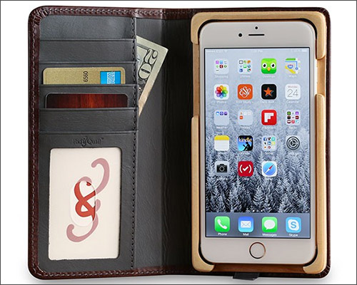 PadandQuill iPhone 8 Plus Leather Case