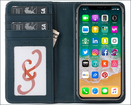PadandQuill iPhone X Wallet Case
