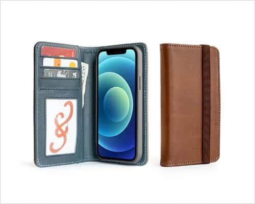 Padandquill Folio Case for iPhone 12, 12 Pro, 12 Pro Max