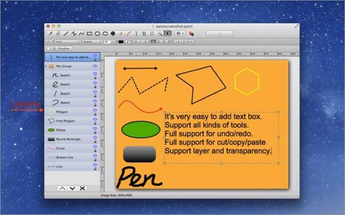 Paint Pro Mac Drawing App Screenshot