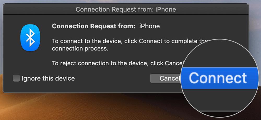 Pair Mac with iPhone or iPad
