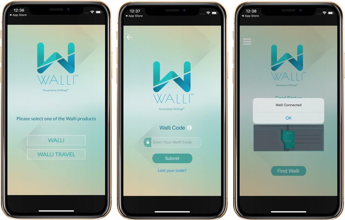 Pair Smartphone with Walli Smart Wallet App