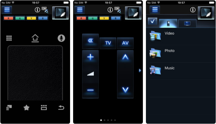 Panasonic TV Remote 2 iPhone and iPad App Screenshot