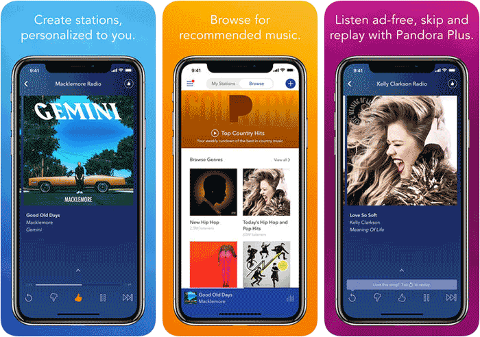Pandora Music Siri Shortcuts Supported iPhone and iPad App Screenshot