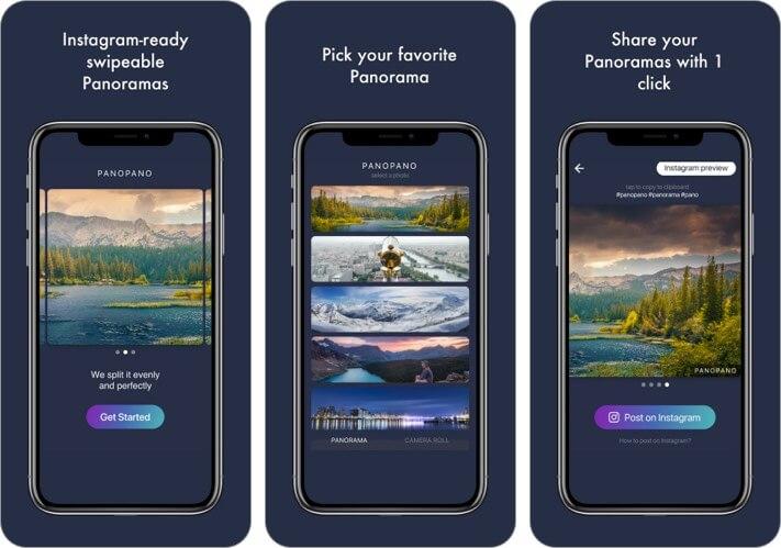 PanoPano 360 degree panorama app for iphone