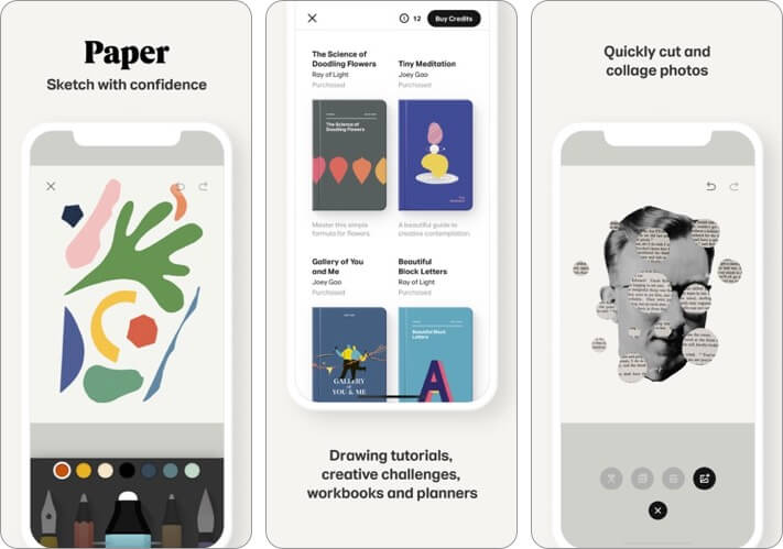 Paper by WeTransfer Graphic Desing iPhone and iPad App Screenshot