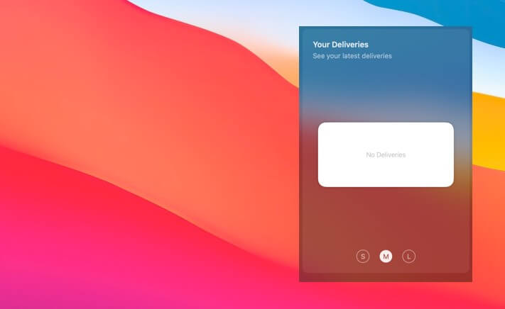 Parcel Widget for macOS