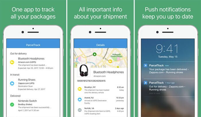 ParcelTrack Package Tracker iPhone and iPad App Screenshot