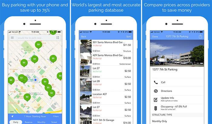 ParkMe Parking iPhone App Screenshot