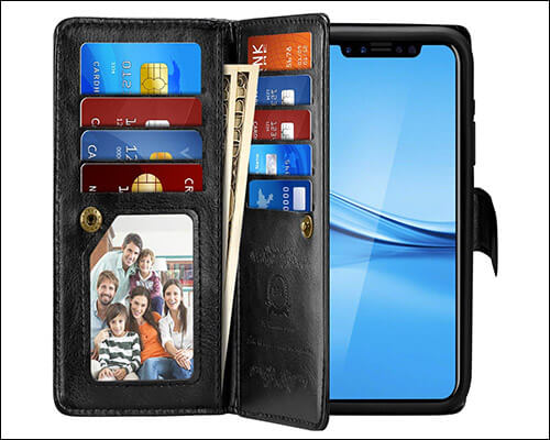 Pasonomi iPhone Xs PU Leather Wallet Case