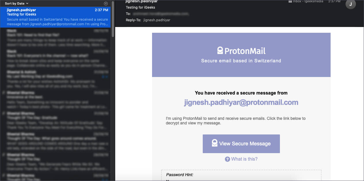Password Protect Emails with ProtonMail