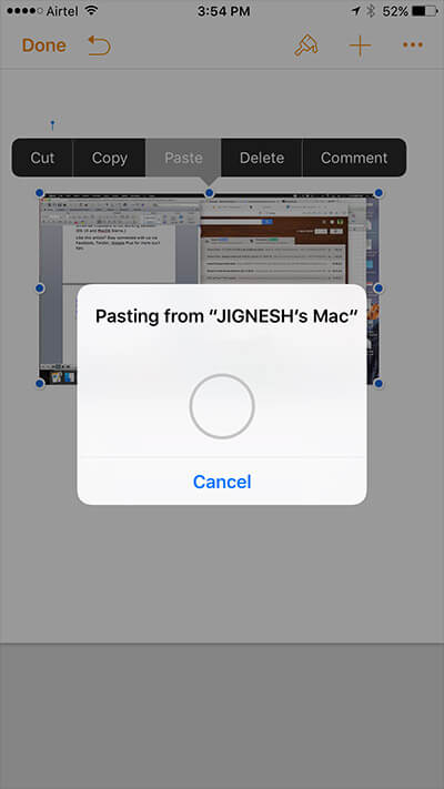 Paste Mac Screenshot on iPhone Using Universal Clipboard
